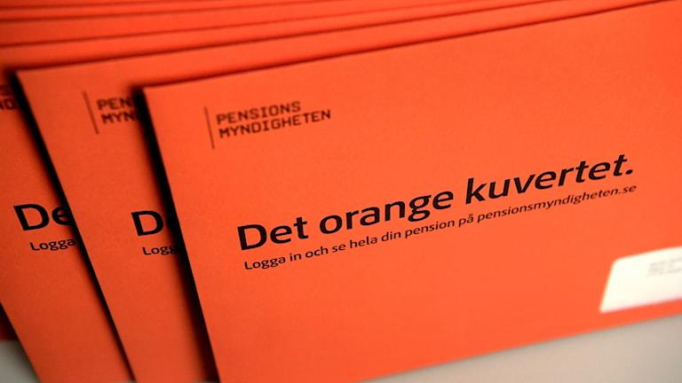 An orange envelope