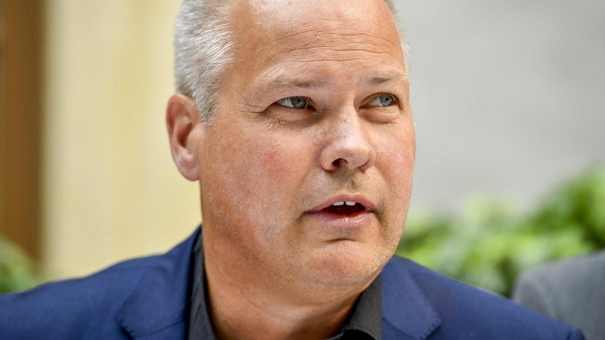 Migrationsminister Morgan Johansson, (S)