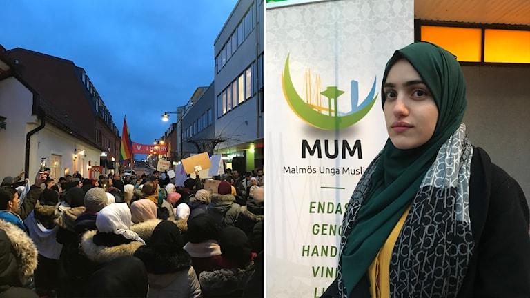 Tasnim Raoof, chair of Malmö's young Muslims.