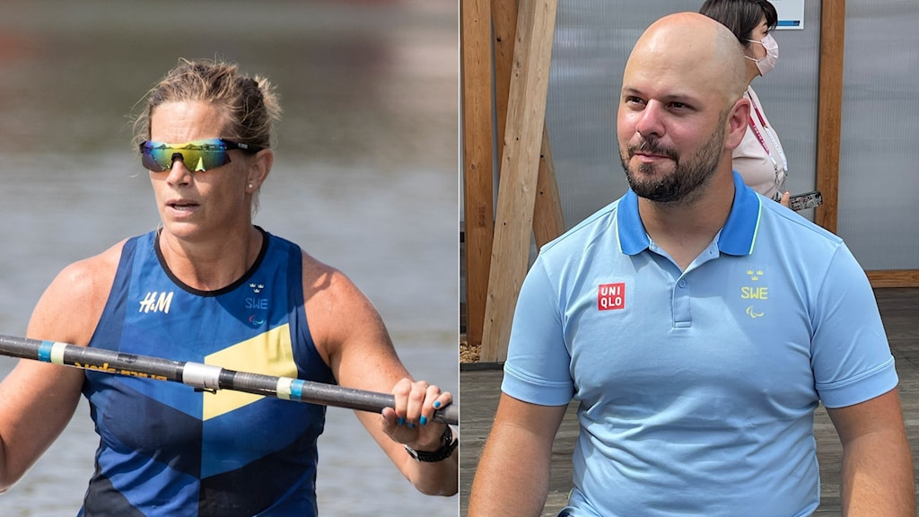 Helene Ripa and Stefan Olsson Paralympics. Foto: Björn Larsson Rosvall / TT och Tobias Carlsson/SR