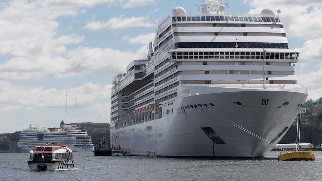 A cruise ship in Stockholm Harbour.