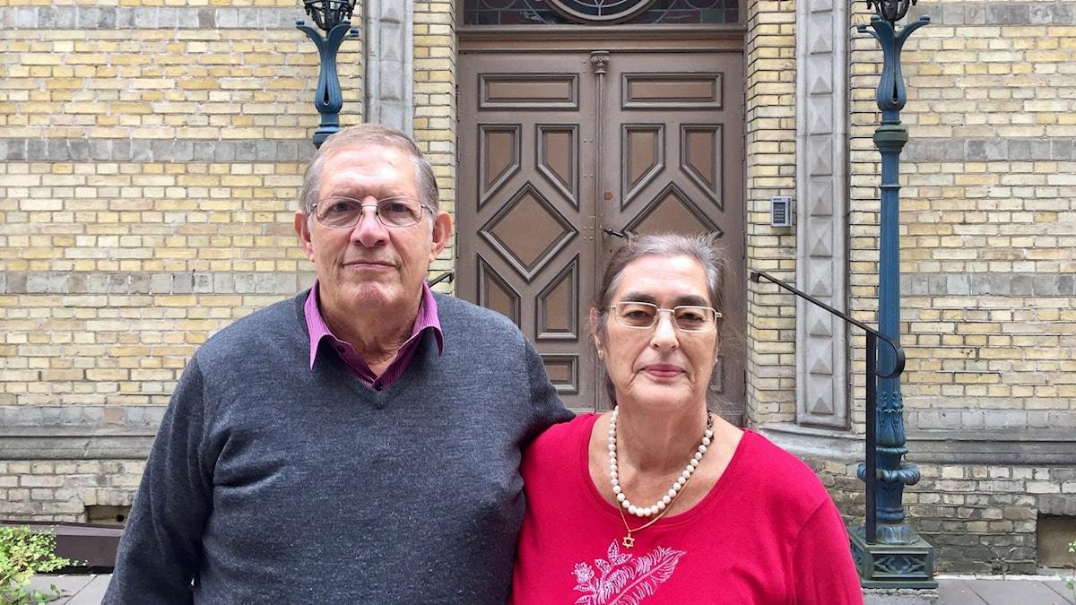 Eva Sheingold with her husband David.