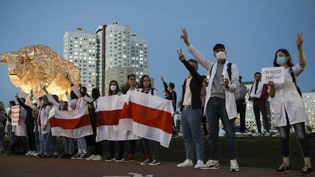 Protests in Belarus.