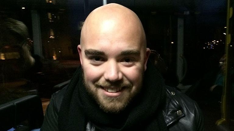 Jonatan Bengtsson, keyboardist från Herrljunga. Foto: Karin Ivarsson / SR.