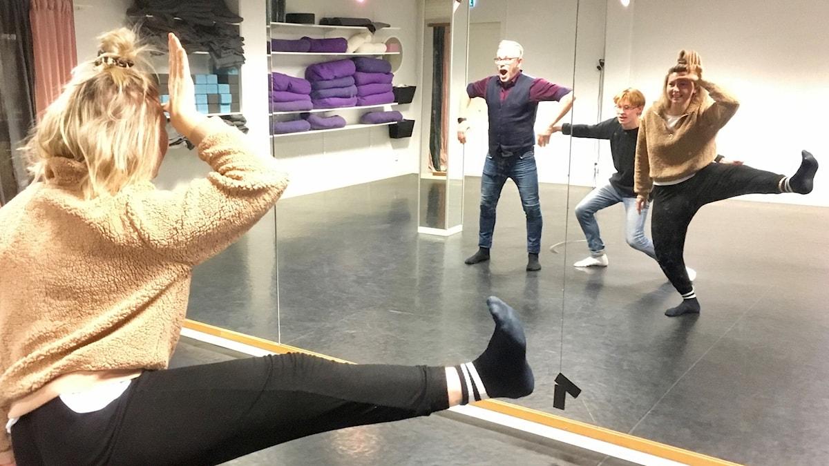 Fortnite-dans med Per, Victor och Ingrid.
