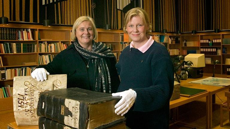 Elisabeth Rehnström och Gunilla Nordlund. Foto: Micke Grönberg / Sveriges Radio