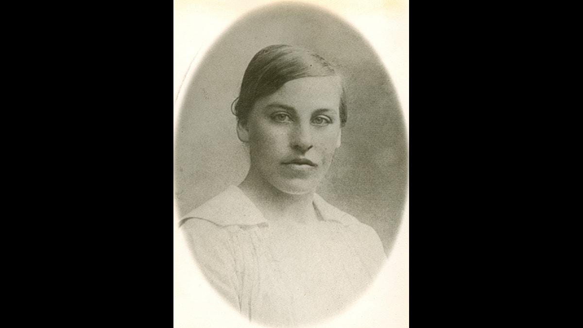 Elsa Spång som ung
