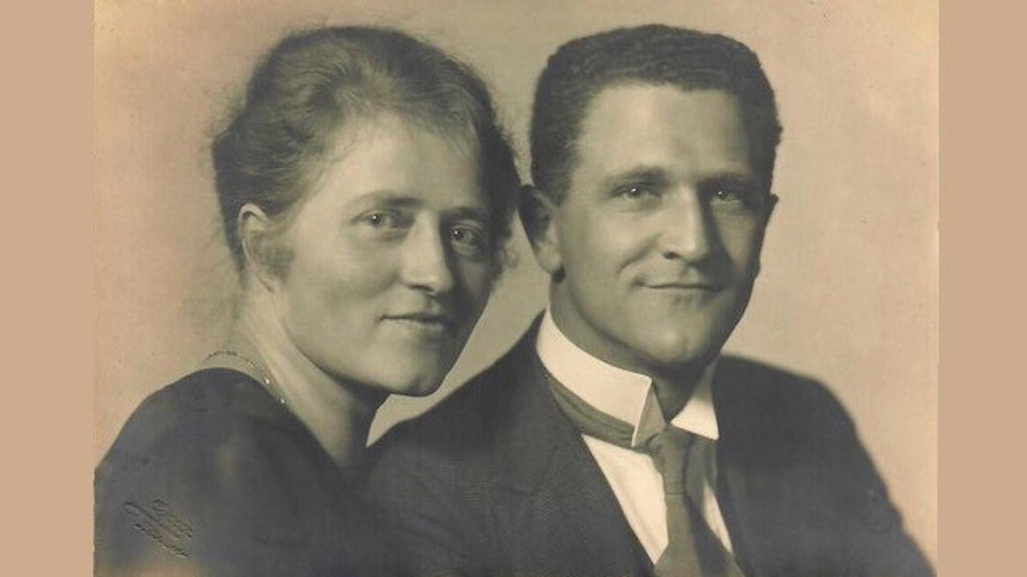 Max och Marie Lang, farmor och farfar till Sten Lang i Örebro