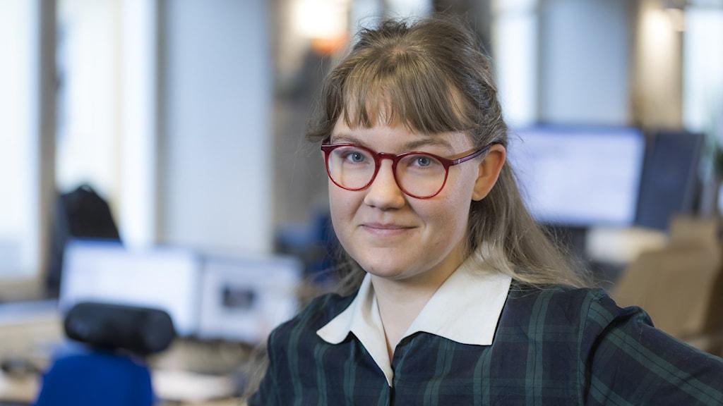 Alva Snis Sigtryggsson, reporter på P4 Dalarna.