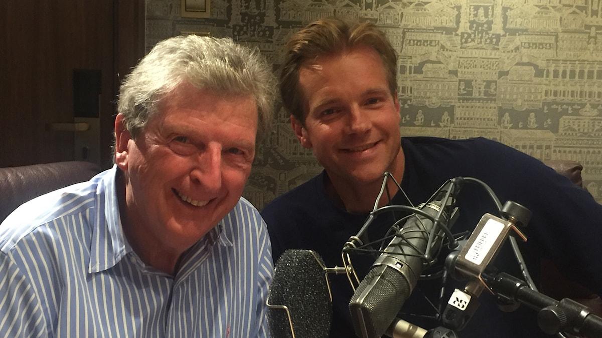 Roy Hodgson på plats i studion med producent Henrik Johnsson