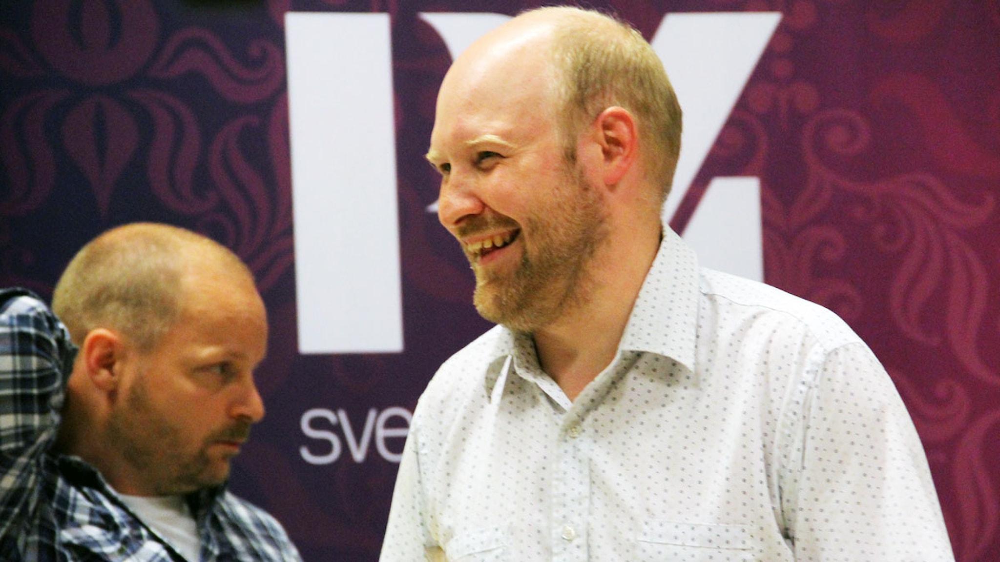 Henrik Dorsin och producent John Swartling. Foto: Johan Knutsson