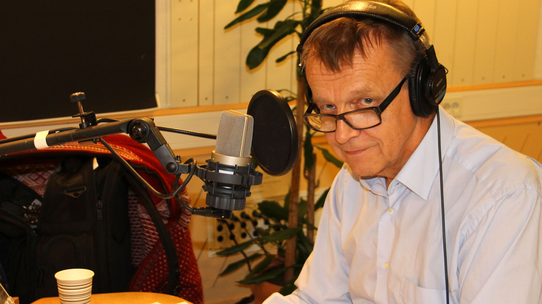 Hans Rosling i studion. Foto: Stina Ericsson/Sveriges Radio