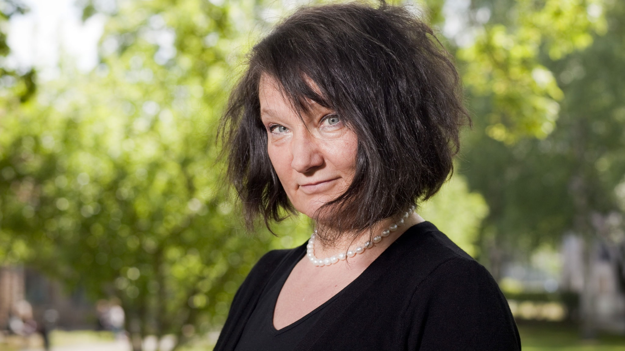 Monika Fagerholm. Foto: Mattias Ahlm/Sveriges Radio.
