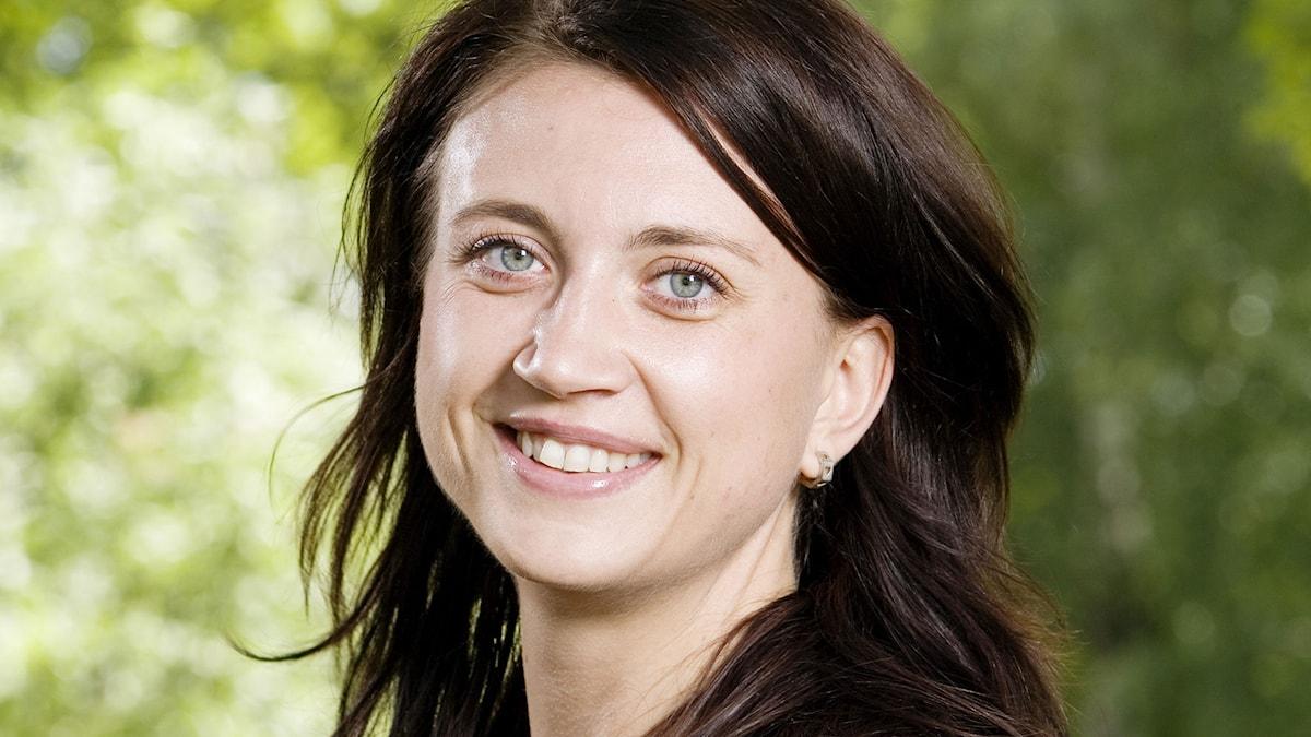 Camilla Läckberg. Foto: Mattias Ahlm/SR