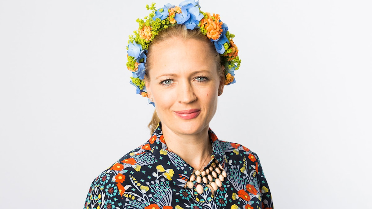 Anna von Bayern med krans. Foto: Mattias Ahlm/Sveriges Radio