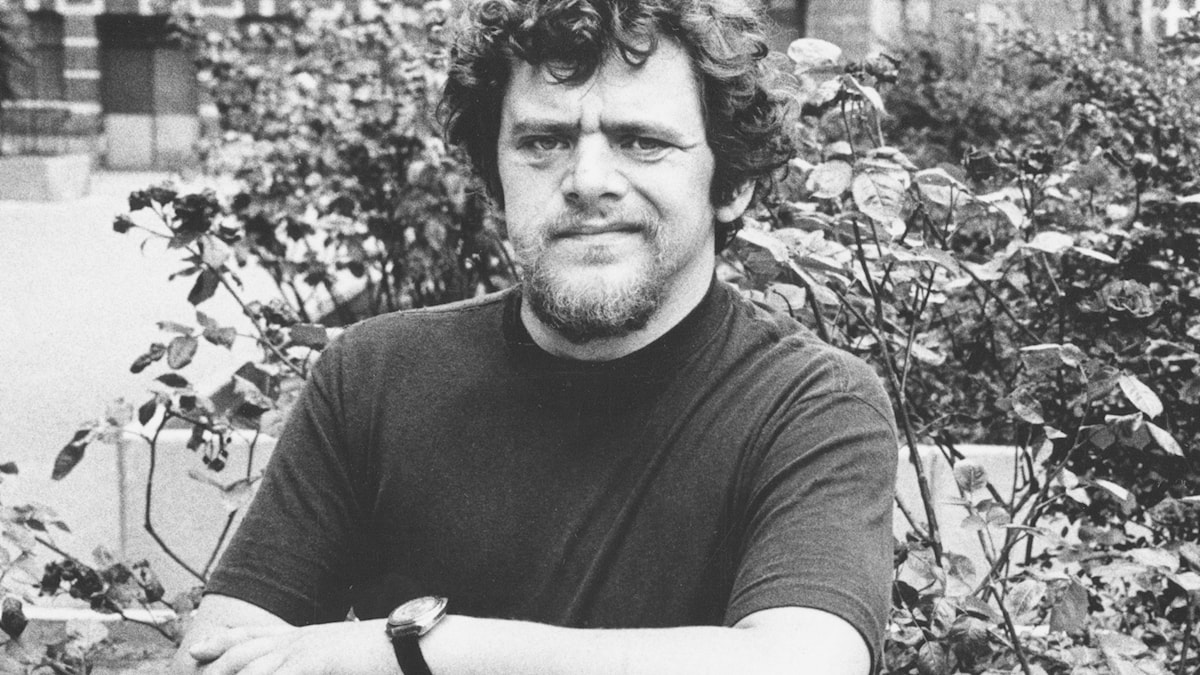 Fred Åkerström från 1973. Foto: SVT Bild.