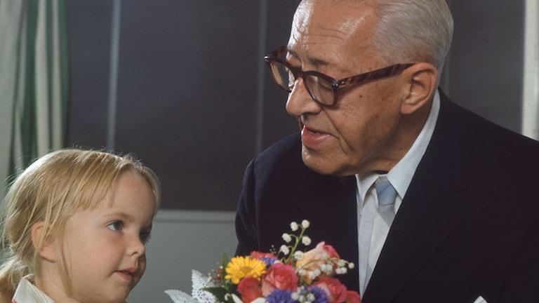 Sven Jerring i Barnens Brevlåda 1970. Foto: Sveriges Radio.