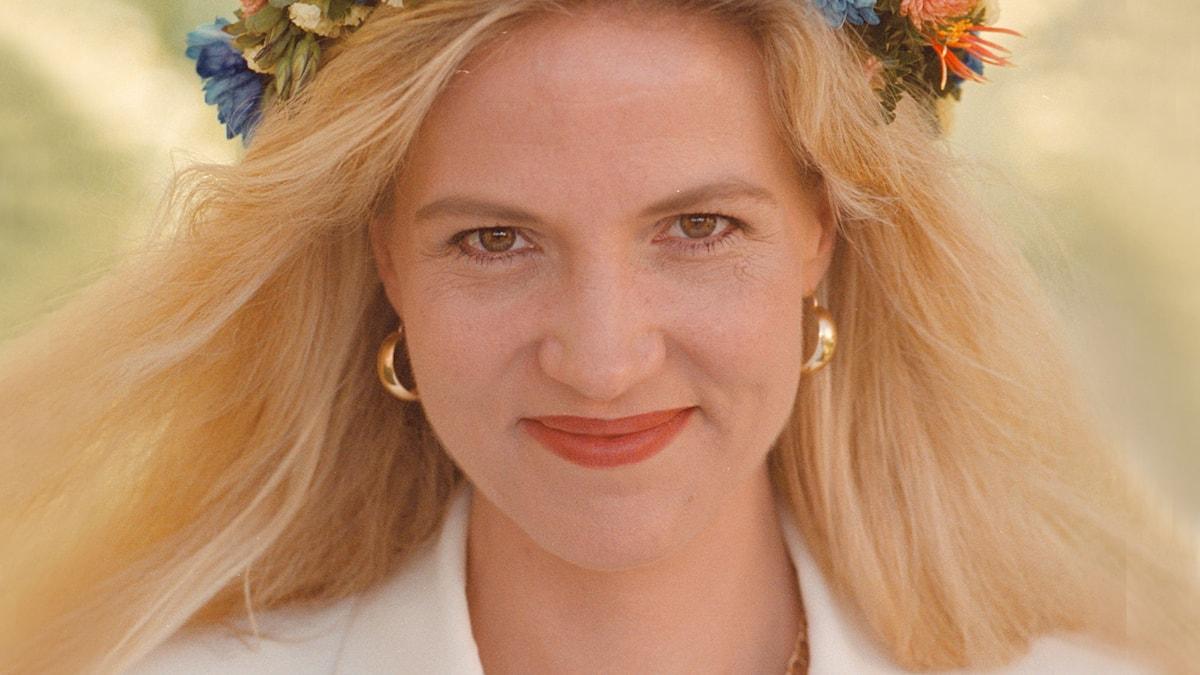 Liza Marklund 1999. Foto: Anders Roth/Sveriges Radio.