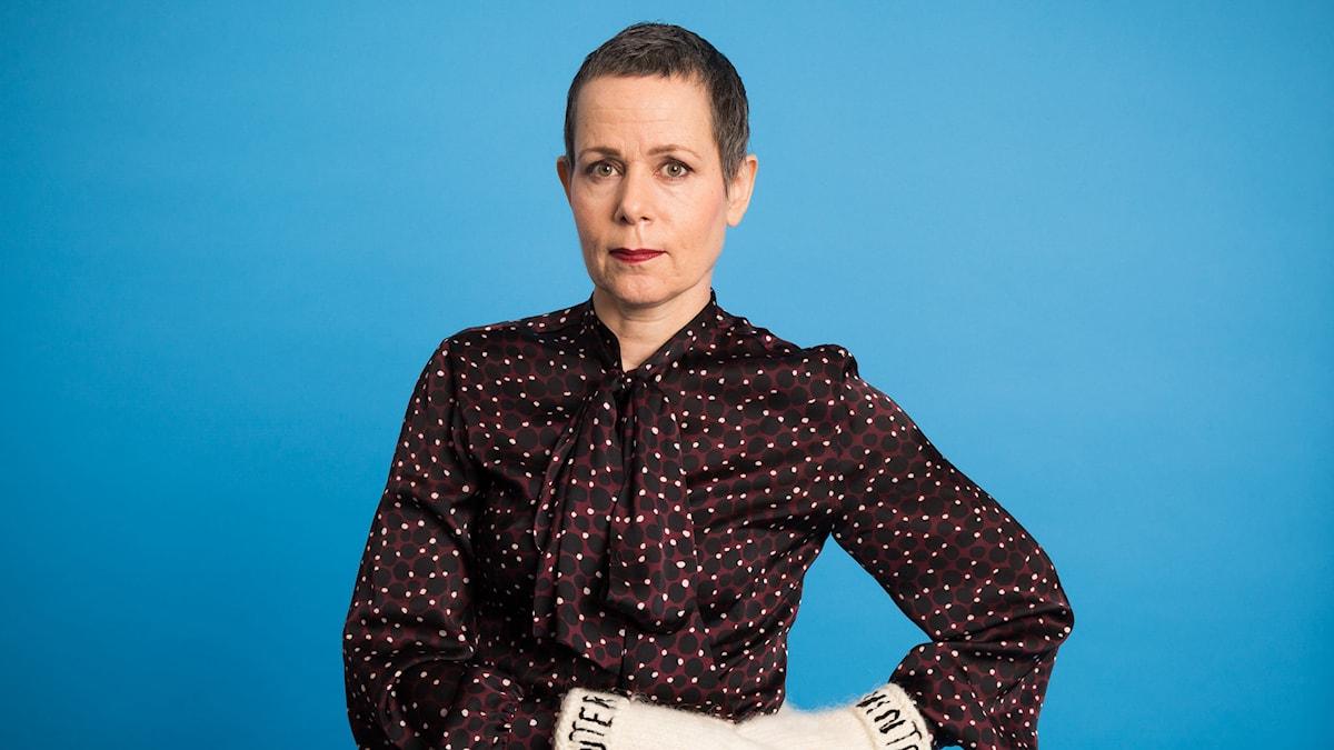 Sara Danius - Vinter 2014. Foto: Mattias Ahlm/Sveriges Radio