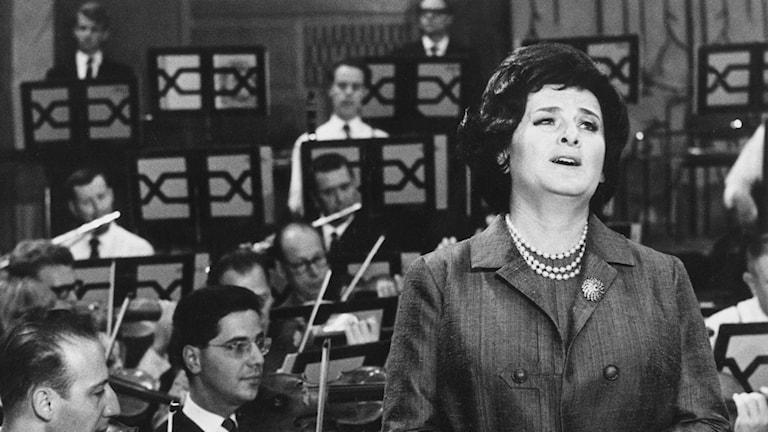 Birgit Nilsson. Foto: SVT Bild (från 1964)