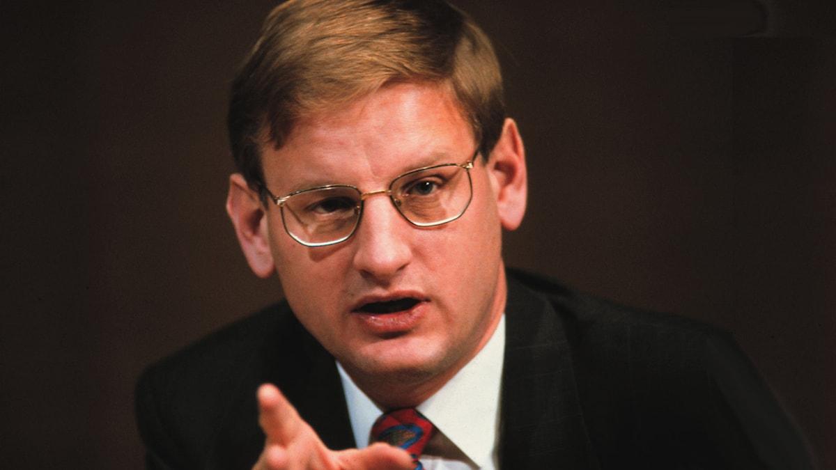 Carl Bildt 1996. Foto: SVT Bild 1993