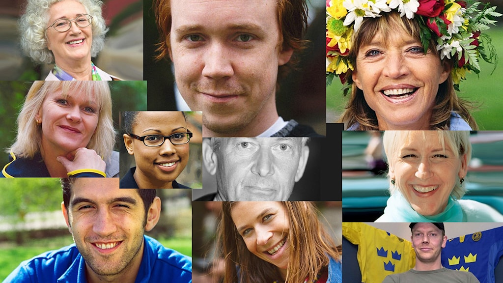 Sommarvärdar från 2000 och 2001. Foton: Sveriges Radio