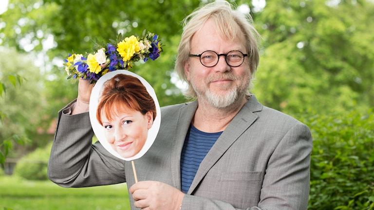 Anna Mannheimer och Peter Apelgren. Foto: Mattias Ahlm/Sveriges Radio