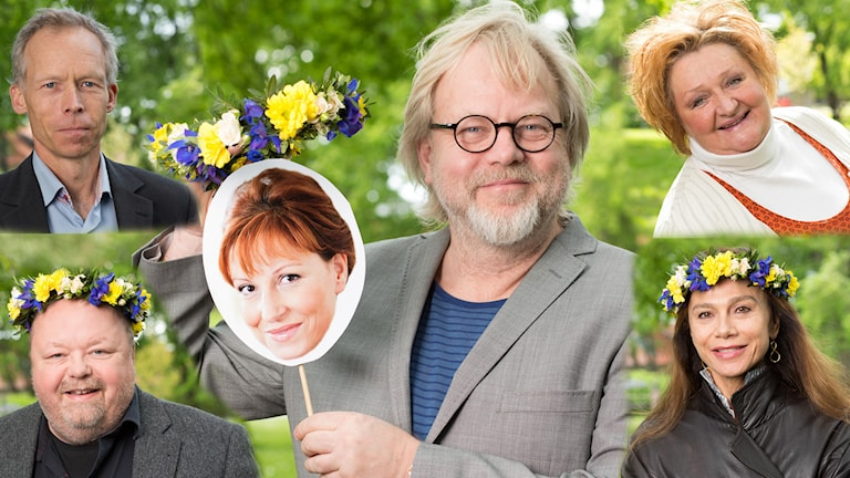 Sommarvärdarna som fick mest lyssning och reaktioner 2015. Foton: Mattias Ahlm /Sveriges Radio.