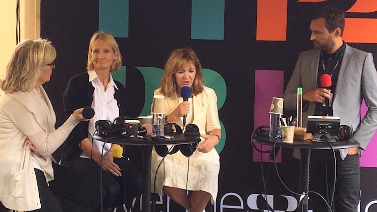 Helena Groll, Sommarproducent, Bibi Rödöö, programchef Sommar i P1, Malou von Sivers, tidigare Sommarvärd och Johar Bendjelloul, tidigare redaktör Sommar i P1, diskuterar fenomenet Sommar.