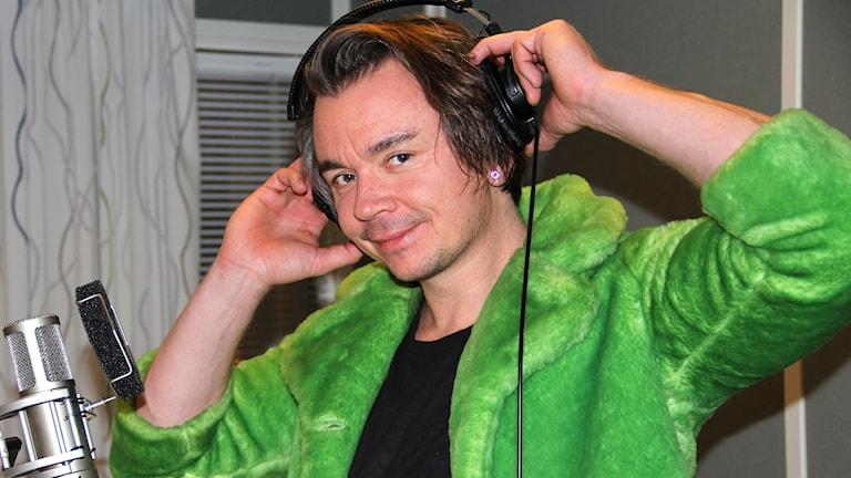 Emil Jensen i studion.