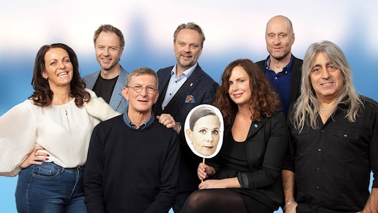 Vintervärdar 2018 Katarina Wennstam, Olof Röhlander, Tommy Ivarsson, David Eberhard, Tomas Sjödin, Sara Danius, Hanna Hellquist och Mikkey Dee.
