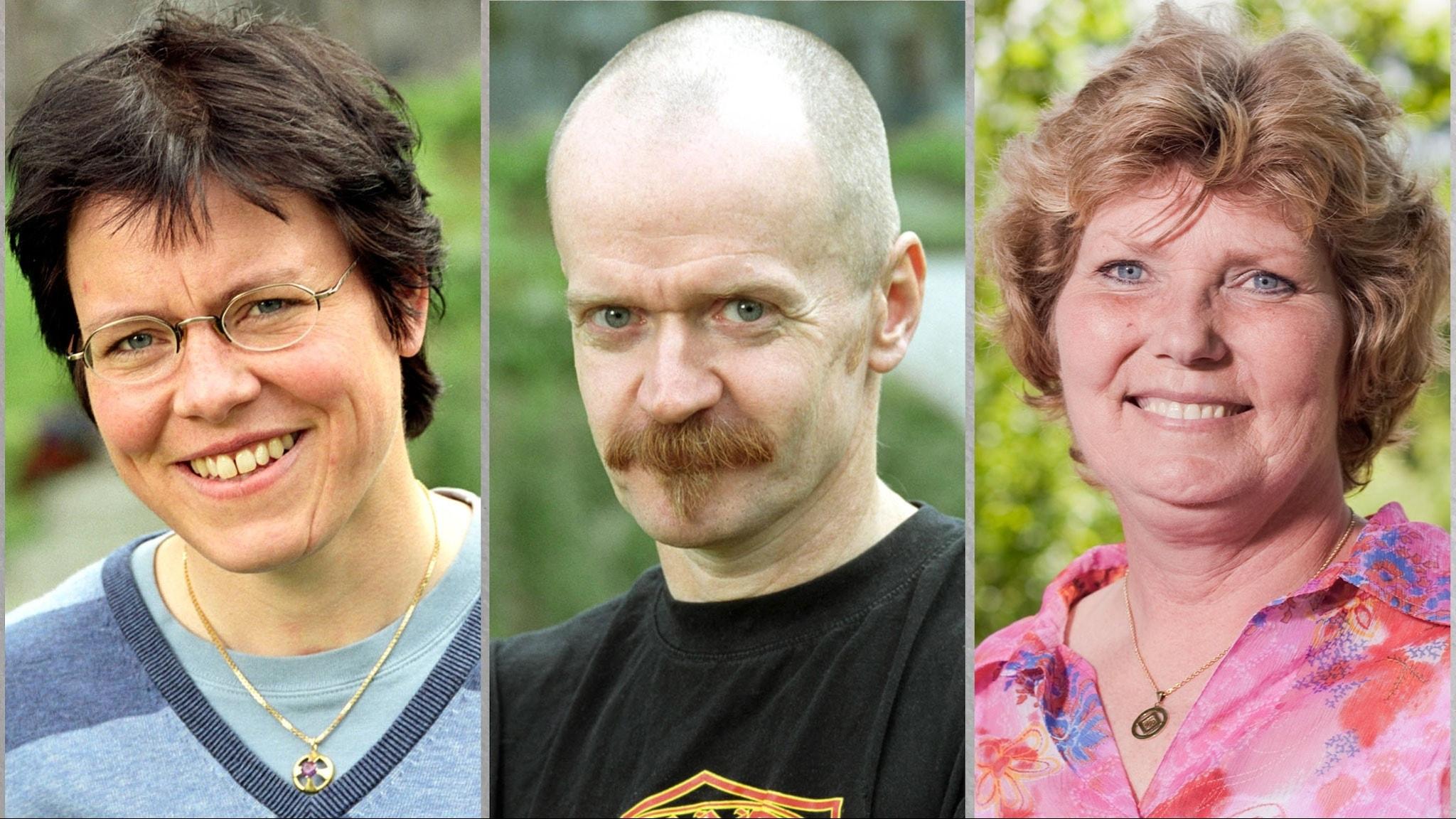 Lena Andersson, Alexander Bard, Annika Östberg. SVT Bild.