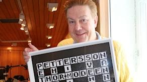 Anders Eldeman har fått en lite extra speciell krysslösning den här veckan. Foto: Ronnie Ritterland / Sveriges Radio
