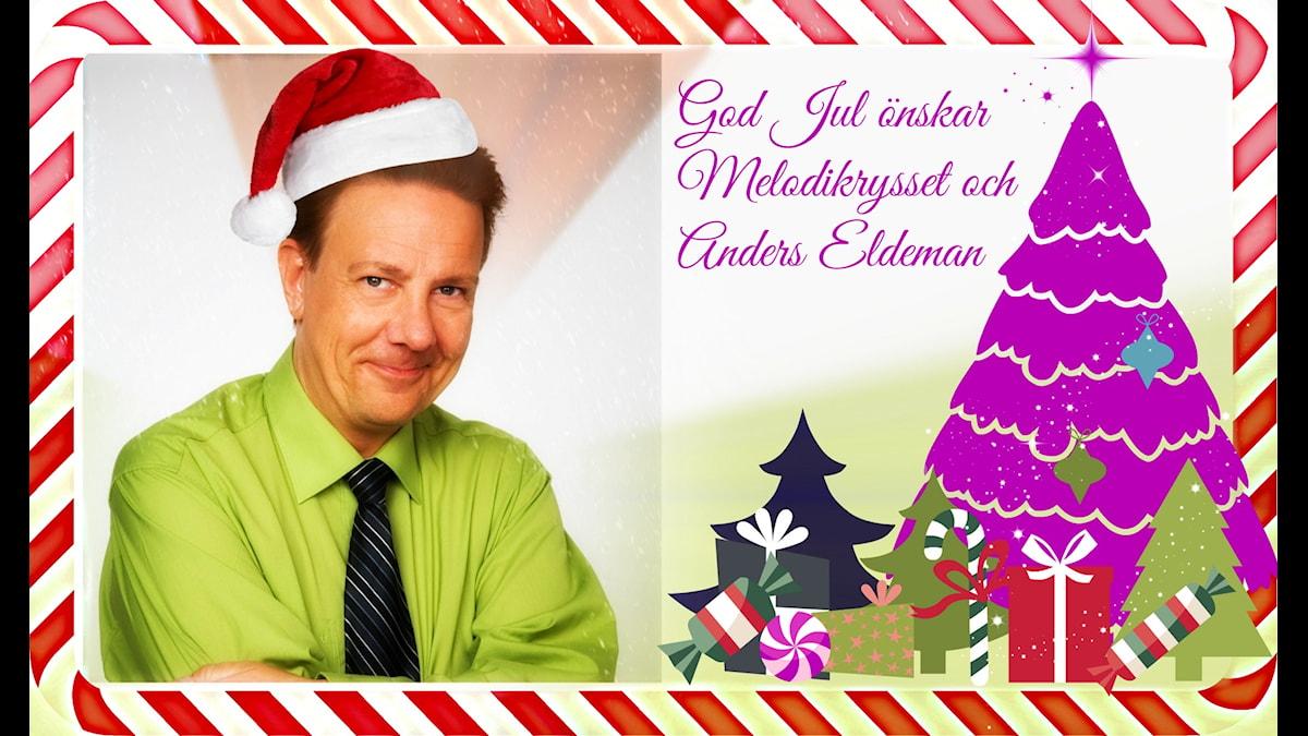 Melodikrysset i P4 och Anders Eldeman önskar alla kryssare och lyssnare en god jul. Foto: Snezana Vucetic Bohm / Sveriges Radio