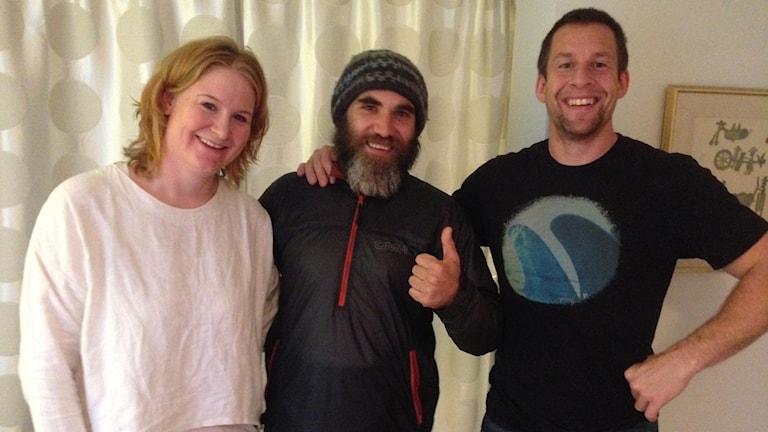 Barefoot Aleks tillsammans med Petronella Larsson och Henrik Jacobsson.