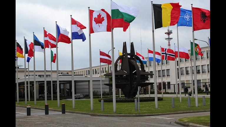 Появится ли флаг Швеции у штаб-квартиры Нато? Фото:МИД Норвегии/Flickr
