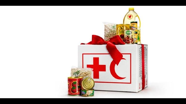 Продуктовый набор в Сирию. Foto: Шведское отделение Красного Креста