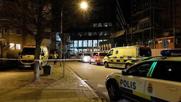 Взрыв в Мальме, один легко пострадавший
