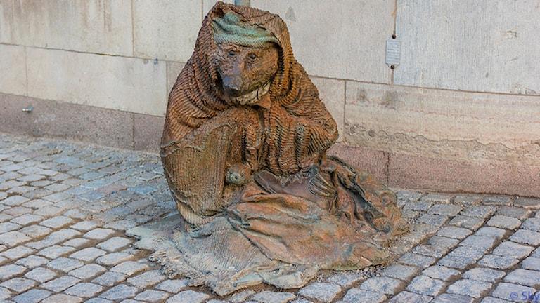 """""""Бездомная лиса"""" у Дома шведского правительства. Фoто: flickr.com"""