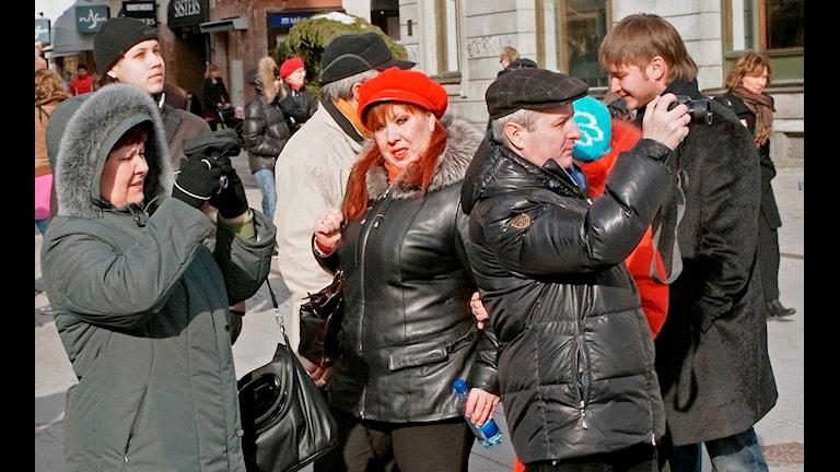 Российские туристы в Упсале. Фото:Upplandsmuseet/Flickr