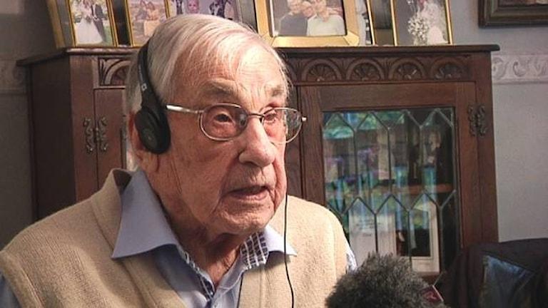 Ерик Андерссон в возрасте 108 лет. Фото:SVT