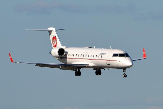 Самолет авиакомпании Cimber был вынужден изменить курс из-за маневров российского самолета-разведчика. Фото:Inger Bjørndal Foss/Flickr