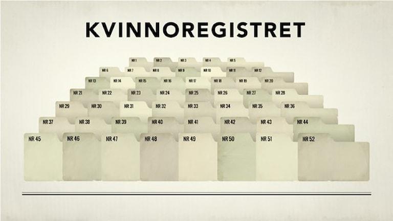Kvinnoregistret. Grafik: Sveriges Radio