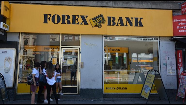 Отделения банка Forex в Копенгагене. Фото: Omunene/Flickr