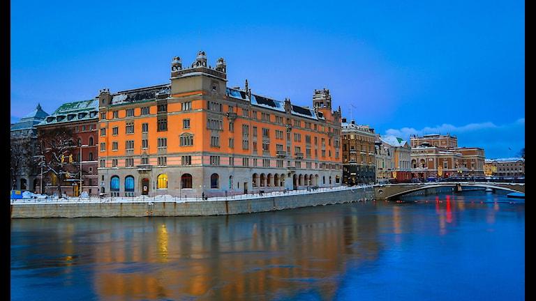 Рузенбад, правительственная канцелярия. Набережная, где обнаружена подозрительная мобильная активность. Фото:Anders Bengtsson/Flickr