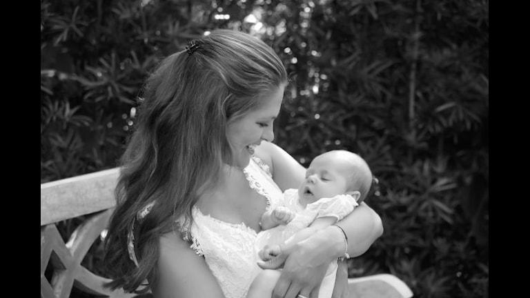 Принцесса Мадлен с дочкой, принцессой Леонор. Фото: Hovet, Королевский