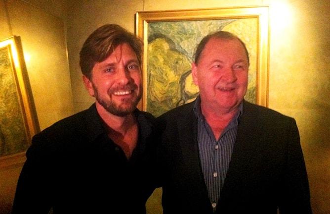 """Рой Андерссон (справа) с конкурентом Рубеном Эстлундом (""""Турист""""). Фото: SR/RS"""