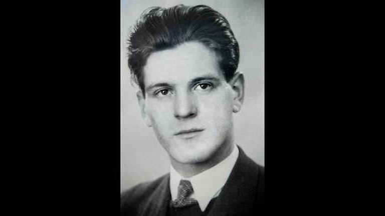 Густав Леннарт Хультквист - шведский доброволец погибший в Карелии в 1944 году. Архивное фото.
