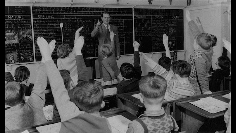 школа 1954 год ч/б