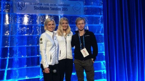 Шведские фигуристы на чемпионате Европы в Стокгольме